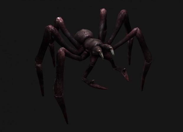 WIP spider textured