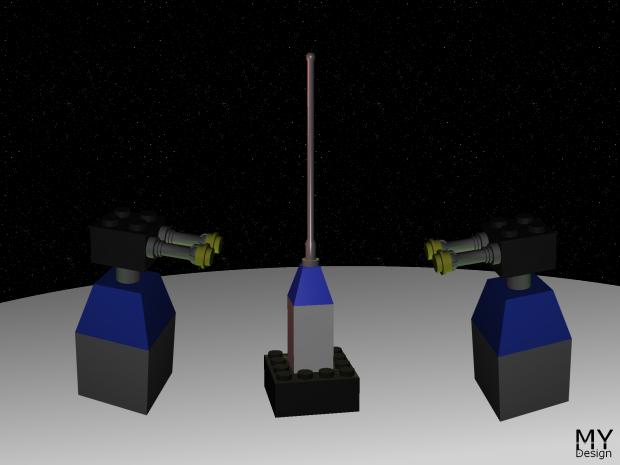 LEGO Deathstar Turrets