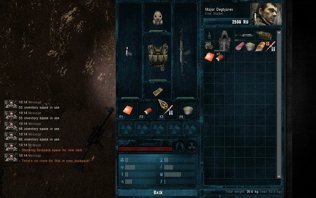 Inventory Space Script Demonstration Screenshots