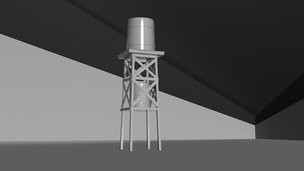 Dual Minigun and water tower