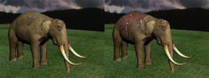 elephant combat textured