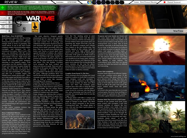 WARTIME Review In GameLand Mag By Danial Noroozi