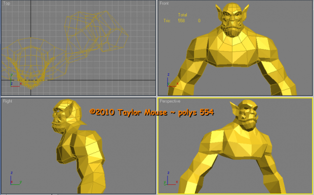 Taylor_Mouse: Orc base mesh (WIP)