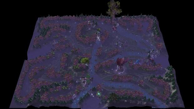 Night Elf Map (Terrain)