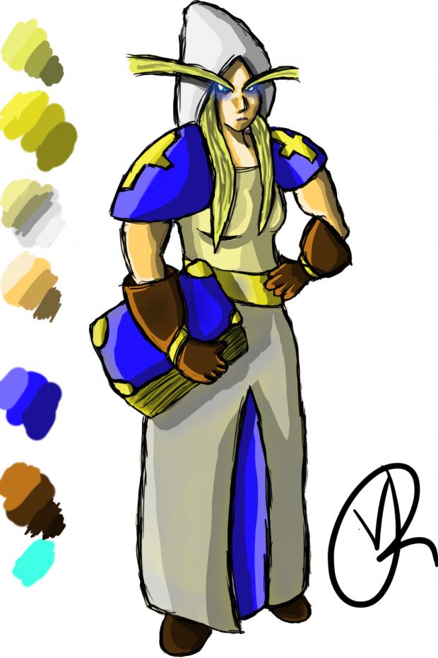 Elven Priestess Concept
