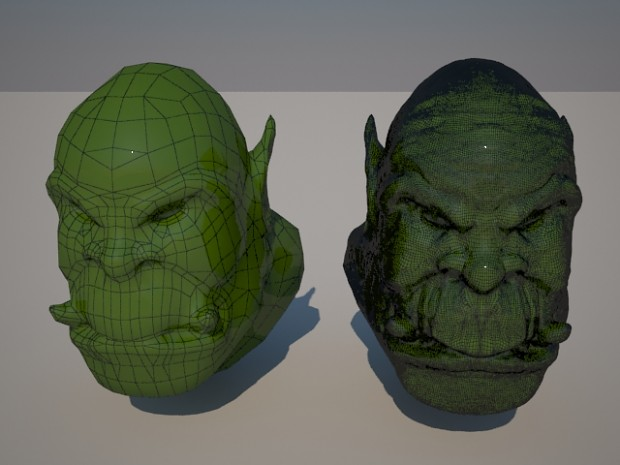 High Poly Orc Head Mesh