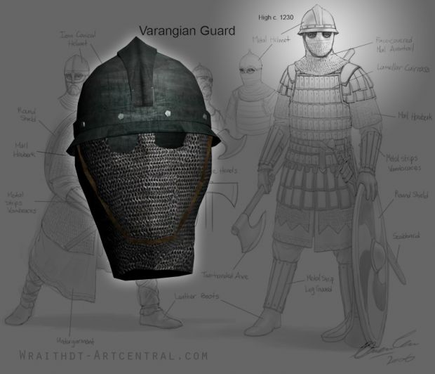 Varangian Guard helmet (Warband Version WIP) image - Europe