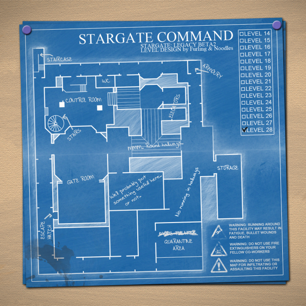 Stargate Command level 28 layout