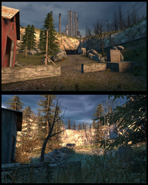 Mission Improbable 1 - Exit road comparison