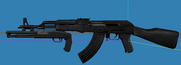 New AK-47 with shotgun attachment model