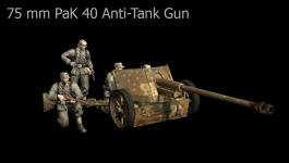 Wehrmacht 75 mm PaK 40 Anti-Tank Gun