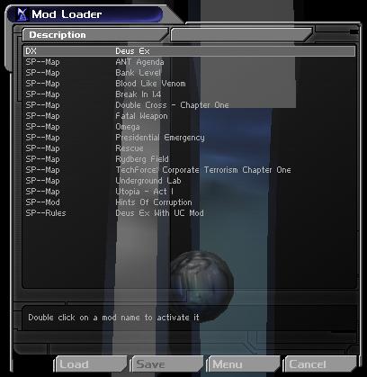 Mod Loader Menu