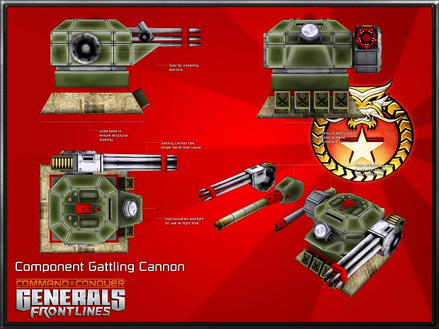 Component Gattling Cannon