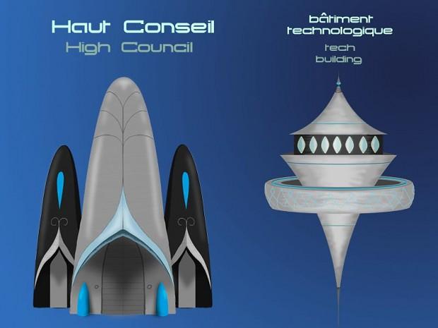 Concept Art : High Council and Tech Build