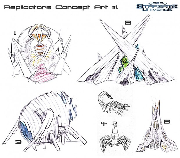Replicators 1st Concept Arts
