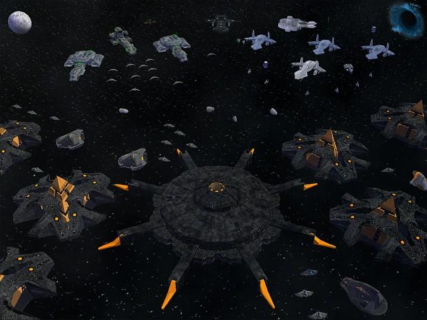 Tauri, Goa'uld & Asgard Spaceship