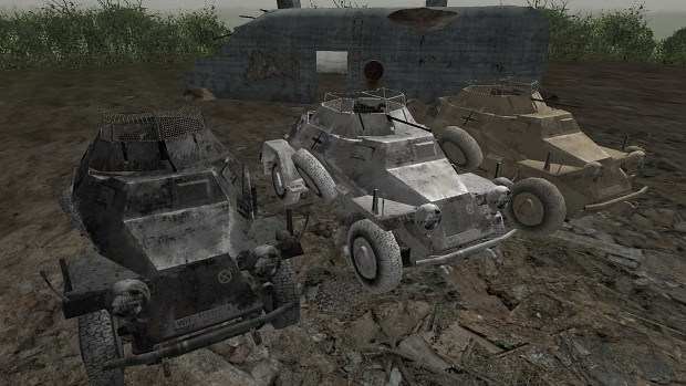 CoD2 German armored car skin
