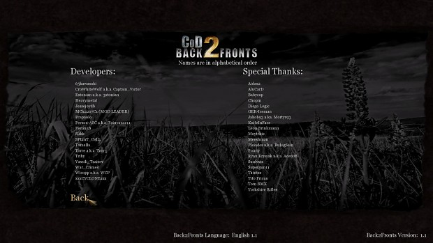 CoD2 Back2Fronts patch 1.1 - mod version