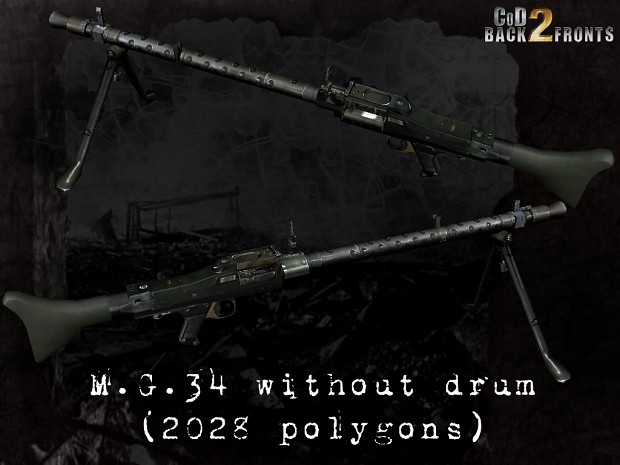 CoD2 MG34 model progress