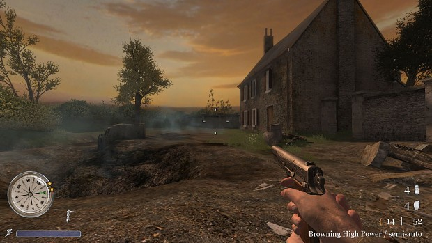 CoD2 Browning HP first test