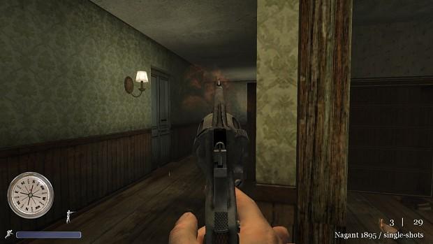 CoD2 Back2Fronts patch 1.1 - Nagant revolver