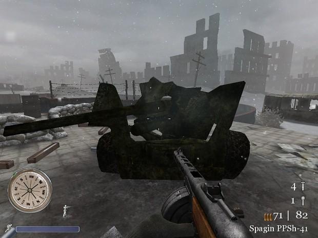CoD2 British 6pdr AT gun ingame