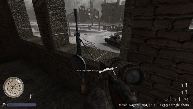 CoD2 Downtown Sniper map correction