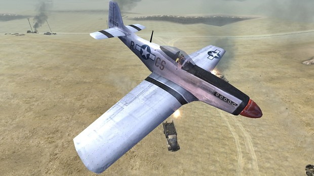 CoD2 Back2Fronts patch 1.1 - P51 Mustang