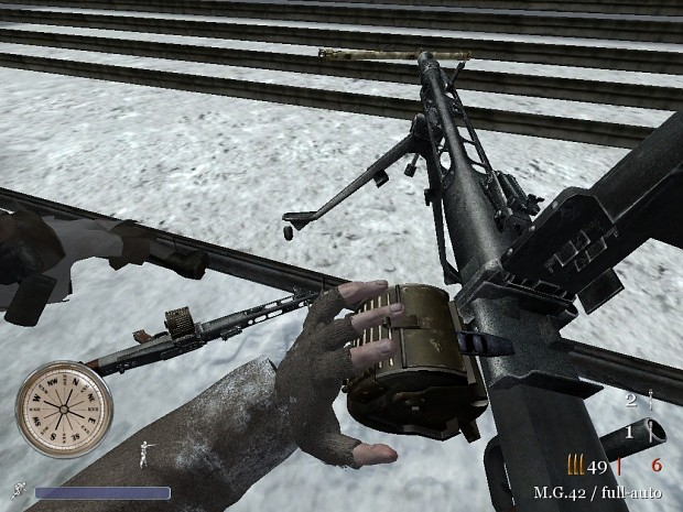CoD2 portable MG42 animation