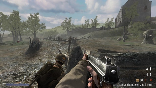 CoD2 Thompson M1 vs M1A1