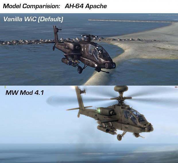 Vanilla WiC vs. MW Mod 4.1 - 3D Models