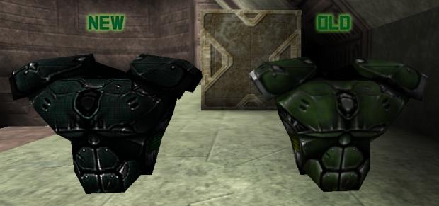 Body armor improved skin
