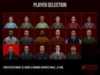 WIP 3D Player Selection