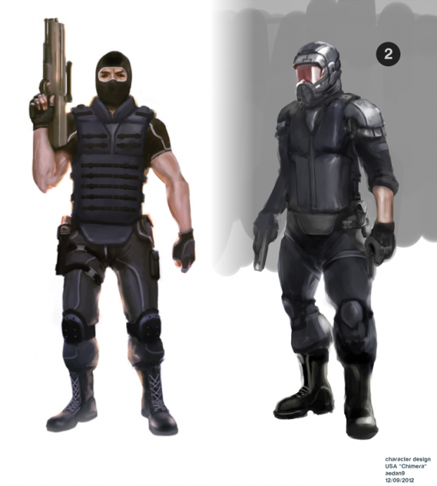 Chimera Faction - Soldier Concept 1