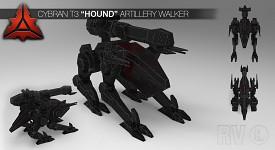 """Cybran T3 """"Hound"""" Artillery walker"""