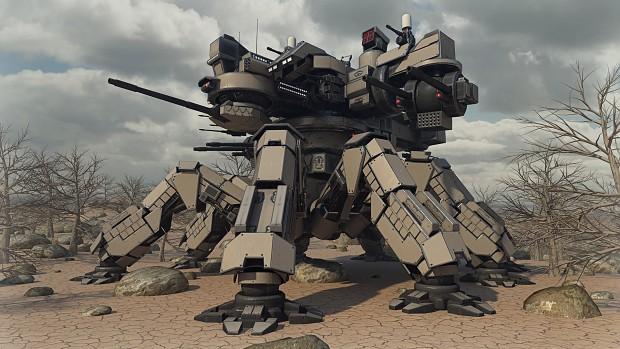 Desert Spider Mecha (not a mod unit just for fun)