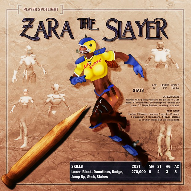 Player Spotlight: Zara the Slayer