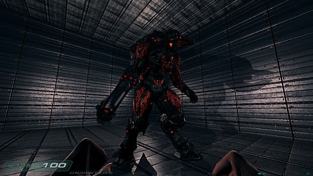 Cyberdemon with added skin FX