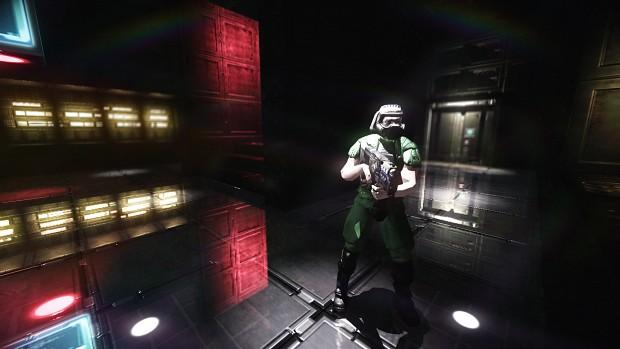 UAC Doom Space Marine @ E1M1