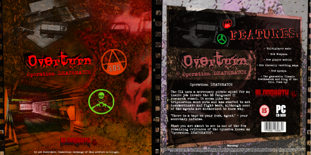 Overturn - Operation: DEATHMATCH CD Sleeve