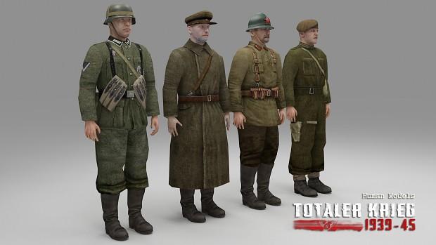 Media Set #5 Human Models & Normandy Casemates