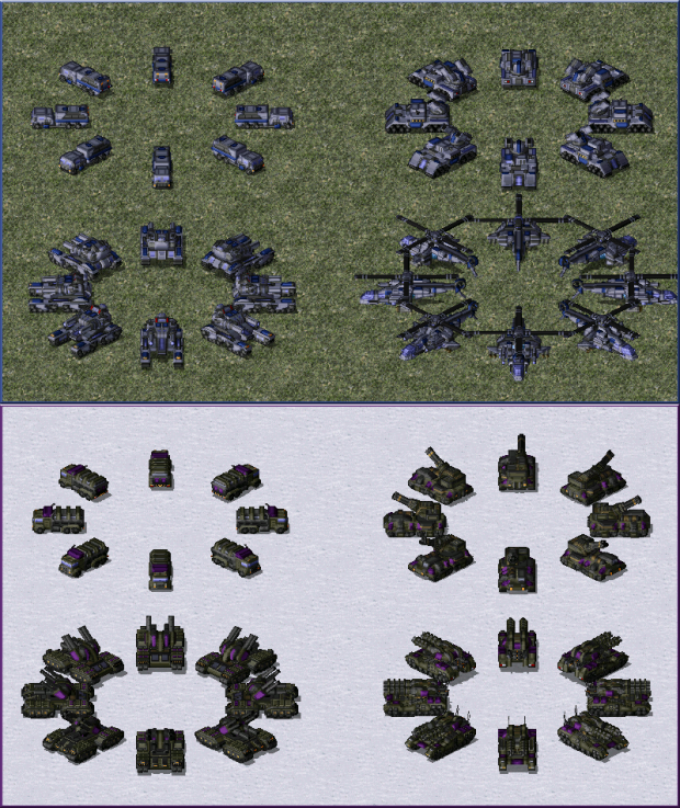 Some Allied & Dominion units.