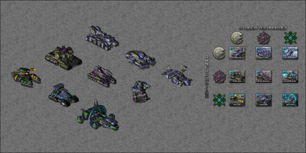 All Experimental (Stolen Tech) Units