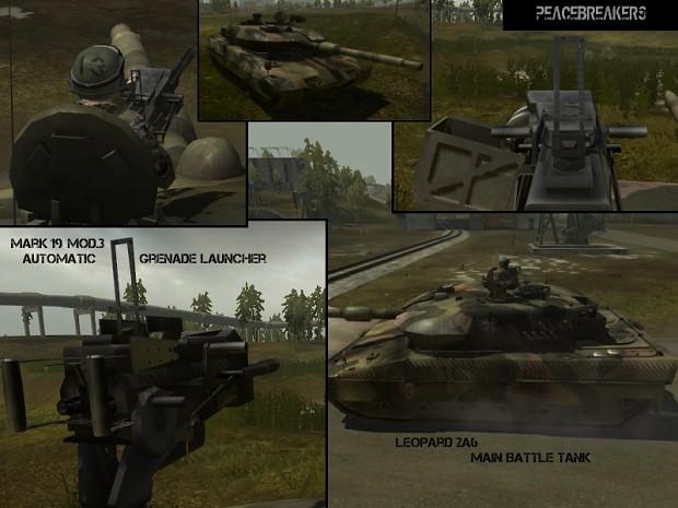Leopard 2A6 MBT + Mk.19