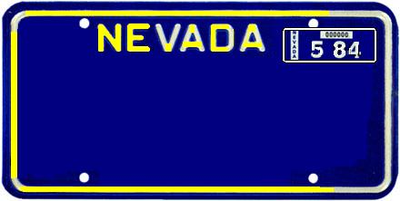 1980's Style Nevada License Plate