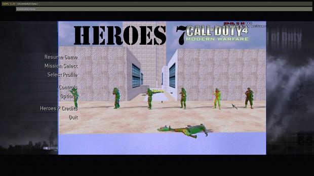 Heroes 7 Main Menu
