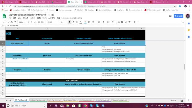 ASI Build List 5/8