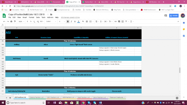 ASI Build List 6/8
