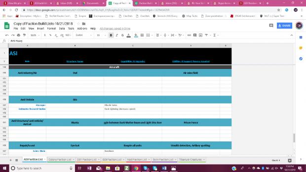 ASI Build List 8/8
