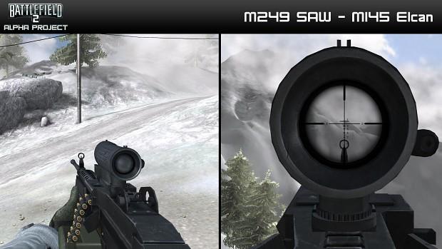M249 SAW - M145 Elcan